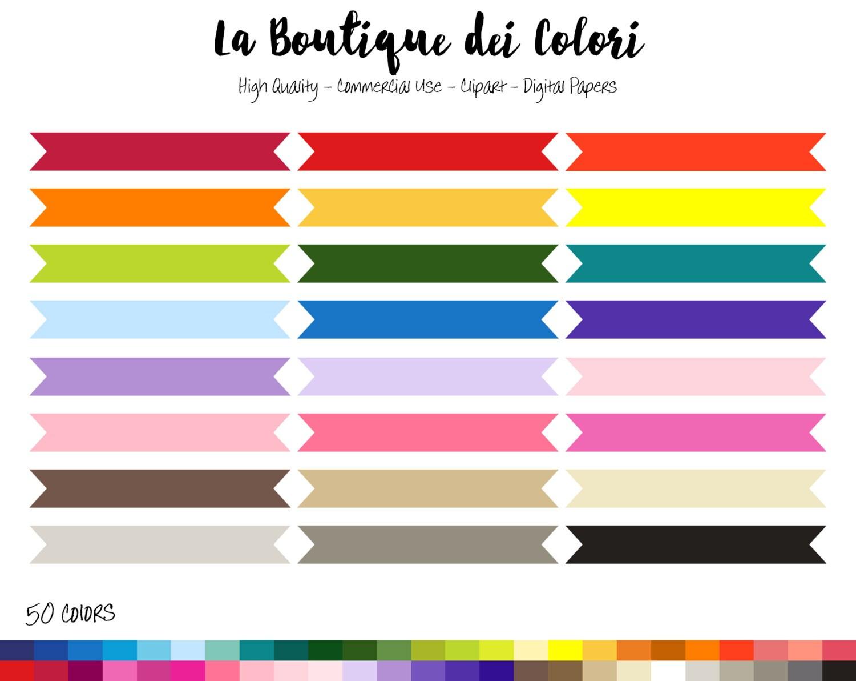 50 Rainbow Ribbon Banner Clipart Banners Digital