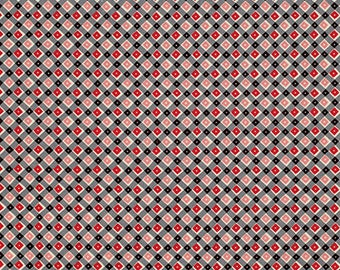 Shelburne Falls Plaid & Dot Maple by Denyse Schmidt for Free Spirit Fabrics, 1/2 yard, PWDS044.Maple
