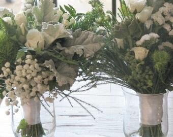 Classic White Wedding Bridal Bouquet