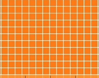 One Yard Citrus - Small Check in Orange - Cotton Quilt Fabric - by Another Point of View for Windham Fabrics - 37514-3 (W3067)