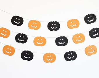 Pumpkin Jack o Lantern Party Banner - Customizable Colors