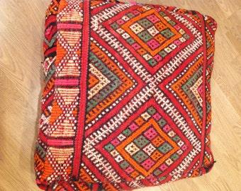 Moroccan Kilim extra large cushion, poufee