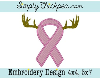 Embroidery Design - Save the Rack - Breast Cancer Awareness - Fill and Appliqué - With and Without Words - For 4x4 and 5x7 Hoops