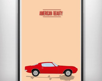 american beauty minimal minimalist movie poster