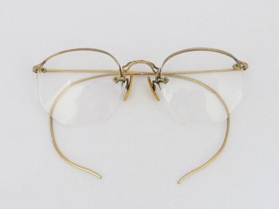 Reserved for Noah Antique frame in 1/10-12K GF rimless glasses