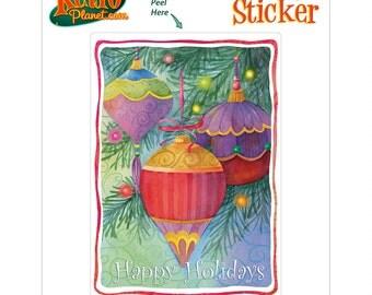 Christmas Ornaments Holiday Vinyl Sticker - #65681