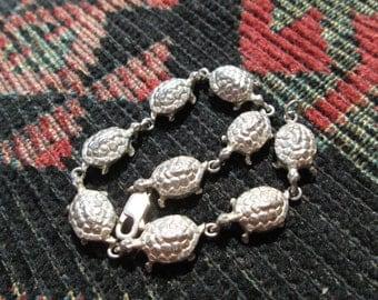 Sterling Silver Turtle Link Bracelet