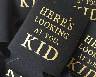 Here's Looking at You, Kid // Can Cooler // Casablanca // Cheers // Gift Idea // Party Favor