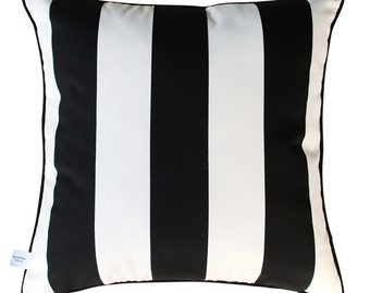 BLACK STRIPE Stripe Outdoor Cushion Pillow | 45cm | 18 inch Square
