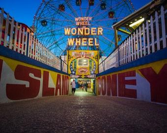 New York Photography - Coney Island - Wonder Wheel - Wall Art - FREE SHIPPING