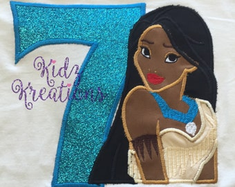Pocahontas Embroidered Shirt, Pocahontas Birthday Shirt, Pocahontas, Indian, Princess
