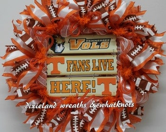 Tennessee Wreath, University of Tennessee, Vols Wreath, Tennessee Football Wreath, University of Tennessee Wreath