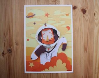 Astronaut BE print