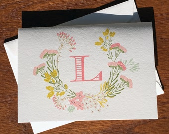 Roadside Wildflowers Personalized Stationery Set from the Fresh Wreath Collection Personalized Thank You Cards Personalized stationary notes