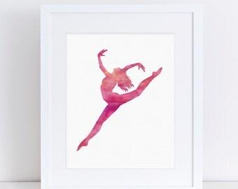 Gift for Dancer, Dancer Silhouette, Dance Print, Printable Dance, Printable Gift, Ballet Gifts, Dance Gifts, Recital Gifts, Digital Download