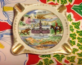Vintage Canada souvenir ceramic ashtray- GC, Japan
