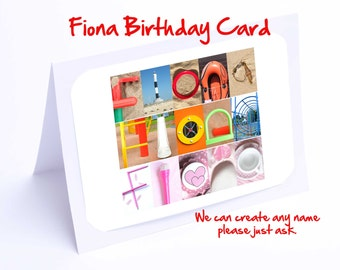 Fiona Personalised Birthday Card