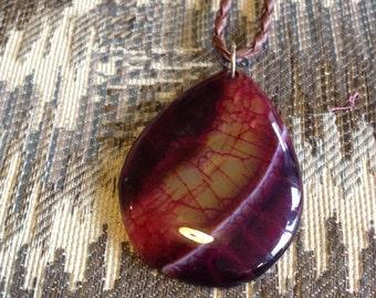 1-Purple Dragon Veins Agate Pendant Necklace-Purple Pendant-Multi-Color Agate Druzy Purple Agate Necklace-Green Agate Necklace-Green Agate