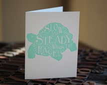 The Tortoise and the Hare Letterpress Folded Card