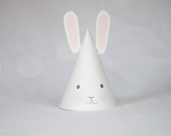 Printable Bunny Hat - Birthday Hat - Some Bunny
