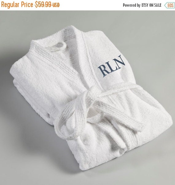 men 39 s personalized bath robe terry cloth embroidered rope white terry cloth bath robe ro017. Black Bedroom Furniture Sets. Home Design Ideas