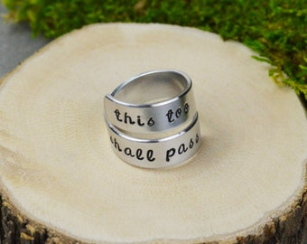 This Too Shall Pass Wrap Ring