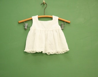 Vintage Baby Girl Diaper Shirt CLEARANCE // Retro Cute Kids Infant Top New Born 9 months