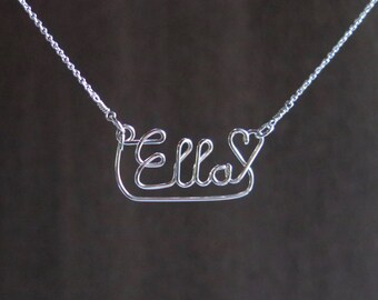 Ella Name Necklace - Sterling Silver