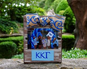 Kappa Kappa Gamma Whitewashed Rustic Frame With Greek Letters