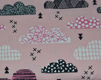 1/2 yd jersey, Knit-Jersey, clouds rose (15,98 EUR/yd)