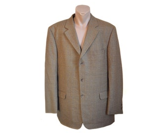 Vintage Horka Elastra Comfort by Stretch men brown wool blazer