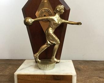 Vintage Bowling Sports Trophy Ladies League Champion Foursome