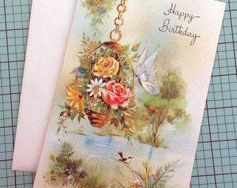 Unused Vintage Happy Birthday Greeting Card