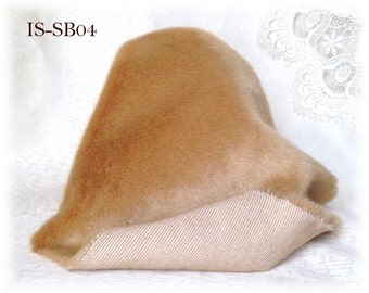 Italian SYNTHETIC fur plush fabric IS-SB04 Caramel soft dense pile 9 mm 1/8 m teddy bear making supplies