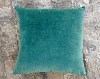 Teal velvet pillow cover,  cotton and linen pillow, reversible,sizes available