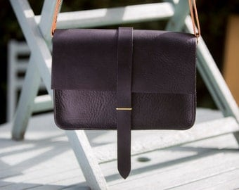 Kuki Mk II hand stitched leather shoulder / cross body bag