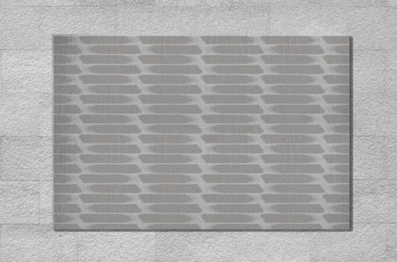 Tappeto bianco e grigio svedese stampato di ...