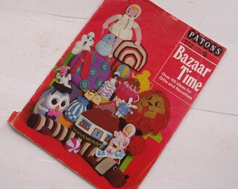 Patons Bazaar Time Crochet Knitting Project Book - Patons 172 - Crica 1970