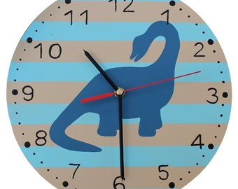 Dinosaur Clock - Wooden Dinosaur Nursery Clock
