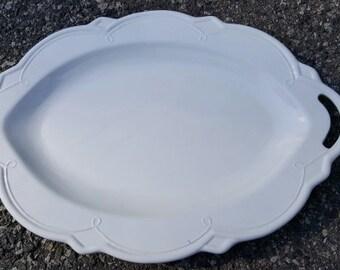 White China Italian Serving Platter - 23-7/8 inches