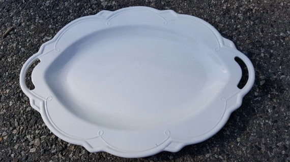 White China Italian Serving Platter 23 7 8 Inches