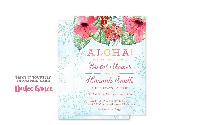 luau wedding shower wording - 28 images - tropical bridal shower ...
