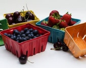 Ceramic Berry Baskets, Berry Boxes, Berry Bowls, Colorful Ceramics, Bright Colors