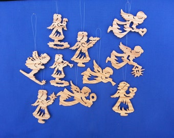 Angel Ornaments - Set of 10