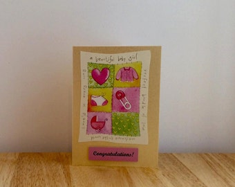 Beautiful Baby Girl Card, Beautiful Baby Card, Baby Card, Baby Girl Card, New Baby Card, New Baby Girl Card, New Arrival Card, Baby Shower,