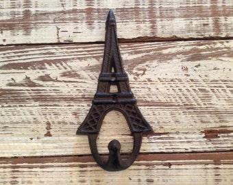 Cast Iron Eiffel Tower Hook Cast Iron Paris Hook Paris Key Hook Paris Towel Hook Eiffel Tower Key Hook Eiffel Towel Key Hook Ircon coat Hook