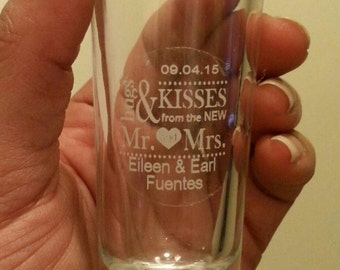 Wedding favor labels 60 round clear labels