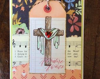 Christian Easter Card Handmade * Religious Easter Card * Easter Cross * he is risen * he has risen * Adventure Awaits Card * CardsinStock