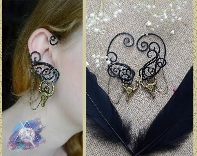 "Ear cuffs ""In the dark"" 