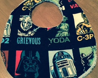 Star Wars Baby Bib with Terry towelling Back